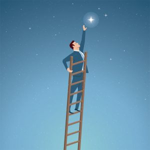 Business concept vector illustration. Career, dreams, success concept. Elements are layered separately in vector file.